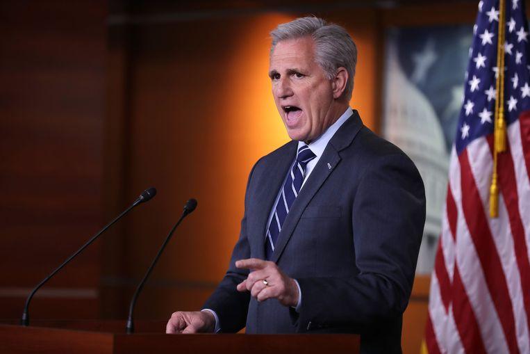De Republikeinse senator Kevin McCarthy. Beeld AFP