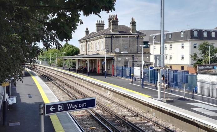 La gare de Chertsey.