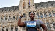 Michelle Carter wint kogelstoten op Grote Markt van Brussel