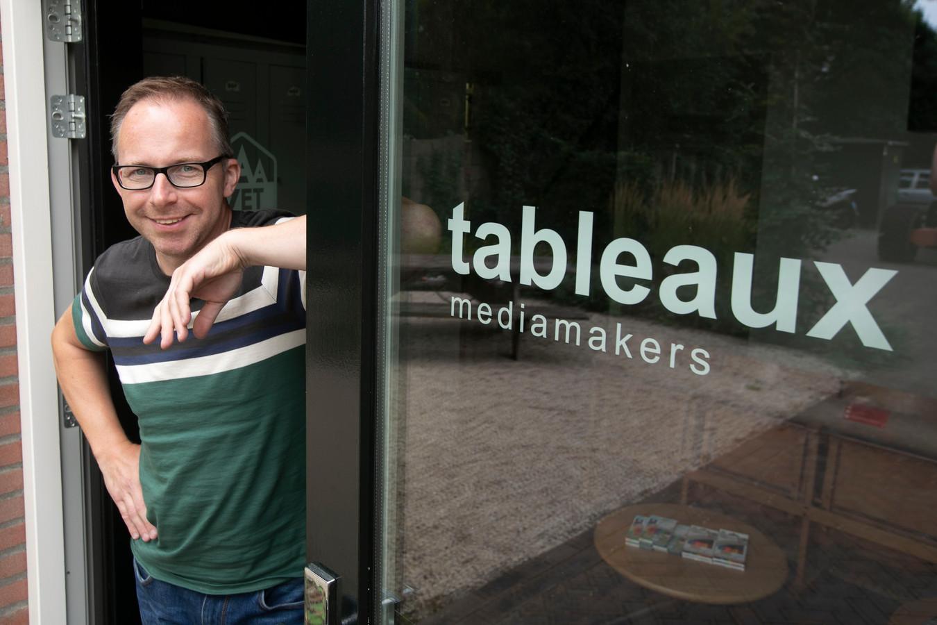 Mark Damen, mede-eigenaar van Tableaux Media in Heeze.