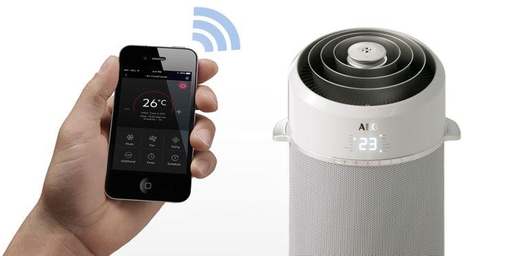 Bedien je mobiele airco via een handige app
