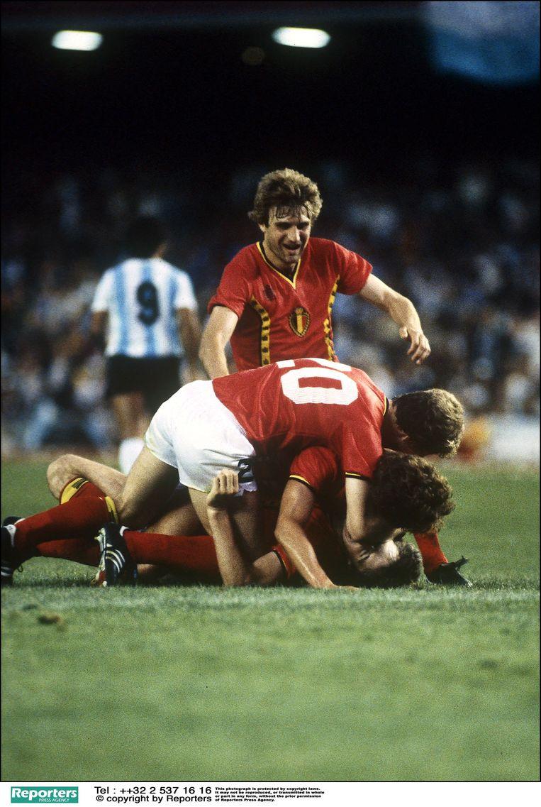 Erwin Vandenbergh scoorde de historische 0-1 tegen regerend wereldkampioen Argentinië.