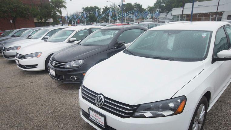 Een Volkswagen Passat staat te koop in Illinois, in de Verenigde Staten. Beeld anp