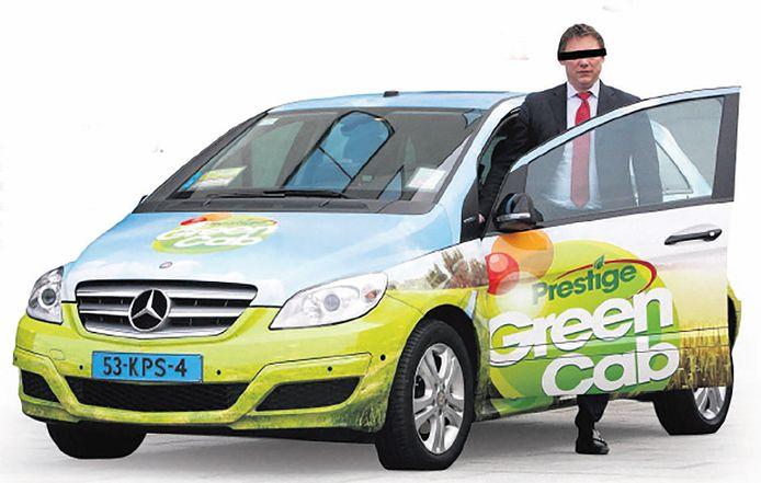 George J. met een auto van zijn bedrijf Prestige Green Cab