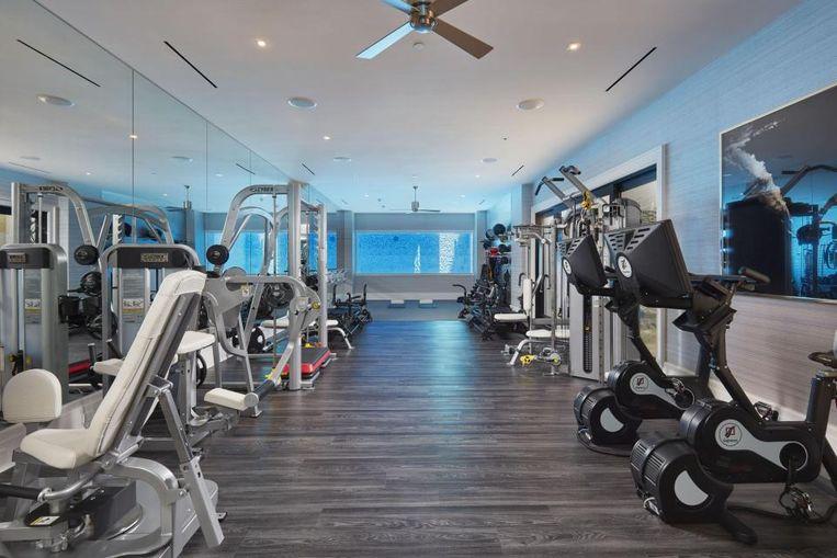 Ondergrondse fitnessruimte.