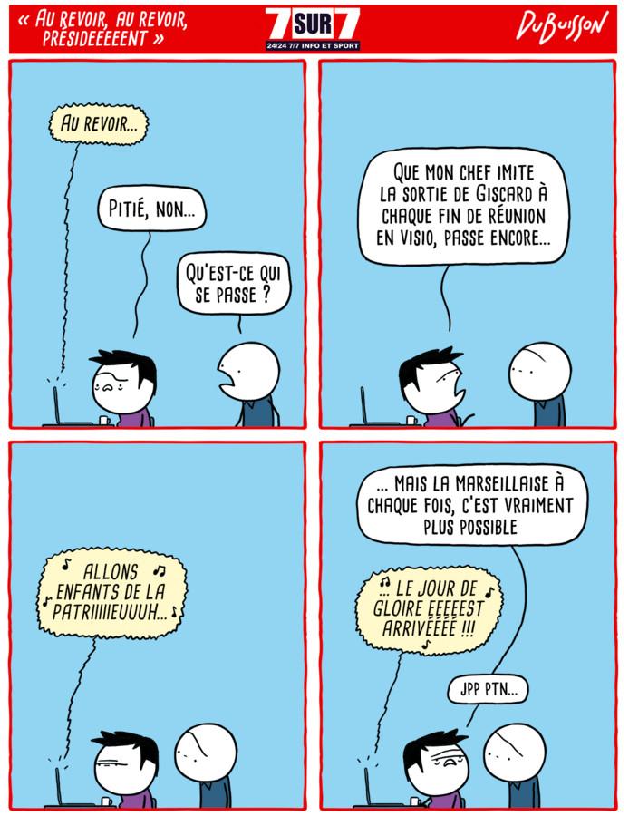 """Au revoir, au revoir, présideeeeent"""