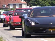 Stoet Ferrari's trekt veel bekijks in Amerongen