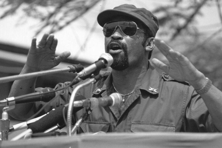 Desi Bouterse in 1987, toen hij bevelhebber was van het leger. Beeld ANP
