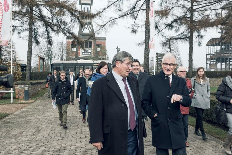 Vlaams minister-president Geert Bourgeois bezocht het park met een delegatie van de Vlaamse regering.