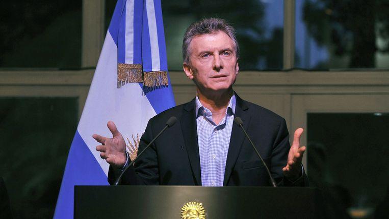 Argentijnse president Mauricio Macri Beeld anp