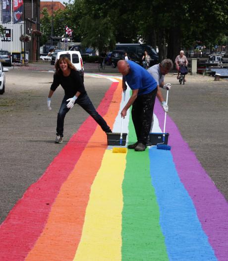 Regenboogpad aan Veghelse haven ter inspiratie en tolerantie