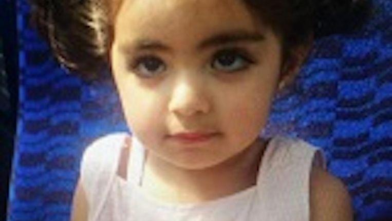 Insiya Hemani (2,5) is sinds donderdag vermist. Beeld Politie