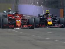 Start Singapore: Vettel voorbij Verstappen, Ocon in de muur
