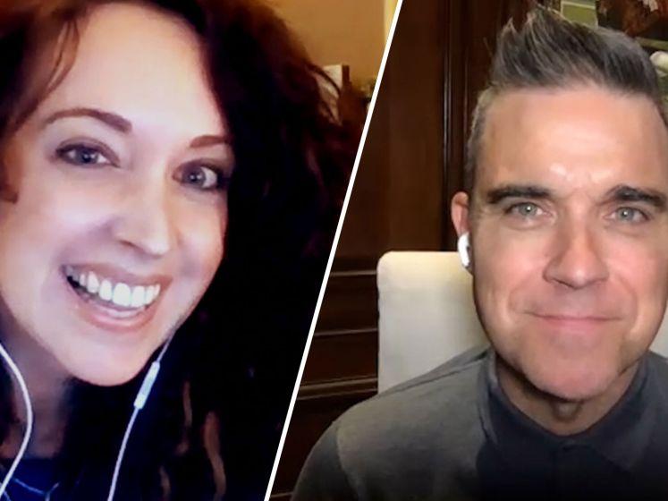 Robbie Williams pakt Joe-dj Anke helemaal in met zijn charmes