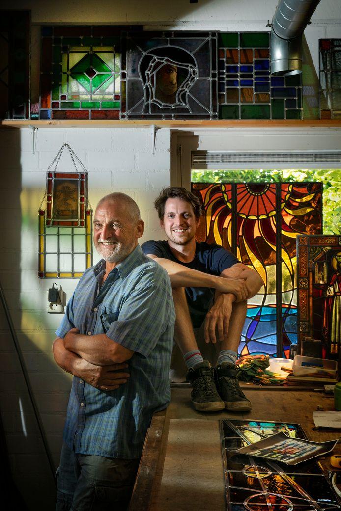 Rien en Geert Cooijmans in hun atelier in Lieshout.