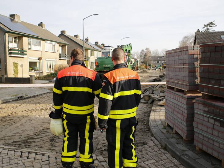 Brandweermannen in de weer voor gaslek in Oosterhout