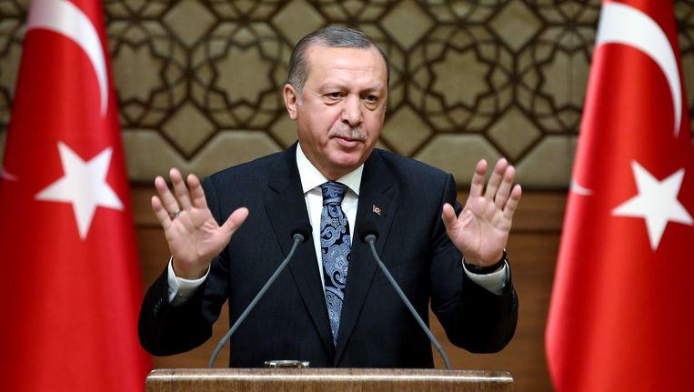 De Turkse president Recep Tayyip Erdogan Beeld AP