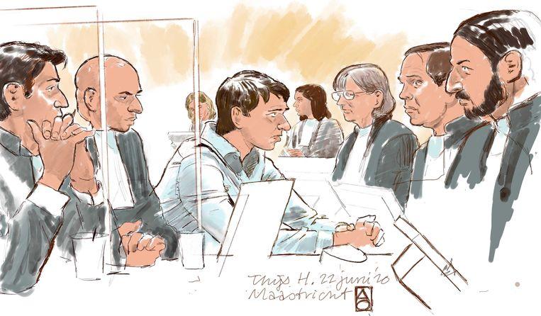 Rechtbanktekening van Thijs H.  Beeld ANP