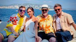 IN BEELD. Beckhams vieren vakantie op superjacht met Elton John