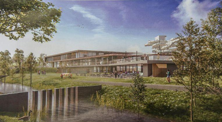 Zo zal het zwembad op Kortrijk Weide eruitzien.
