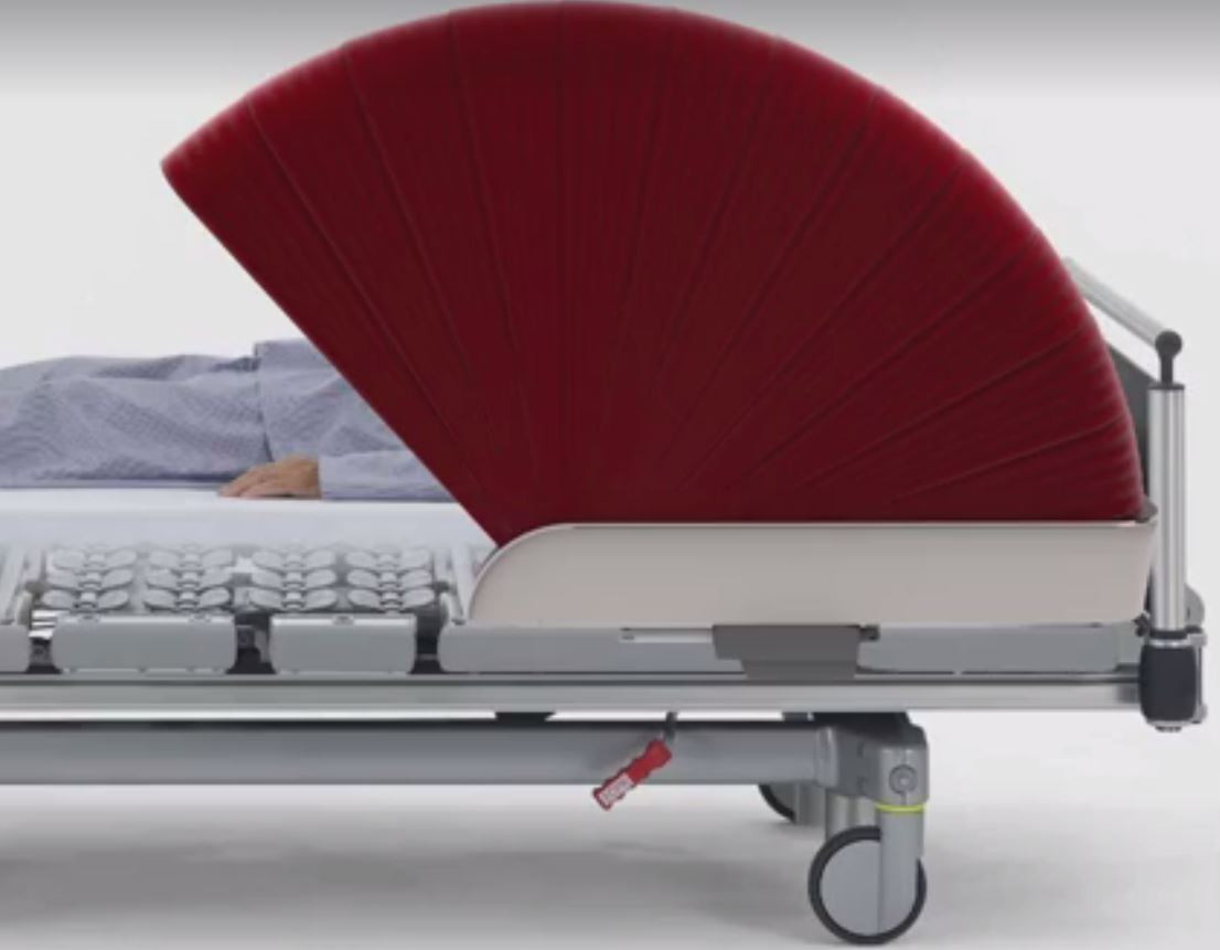 Een bed met een bedhoodie. Bron: UMC Utrecht