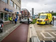 Beelden opgedoken van auto die gebouw ramt in Eindhoven
