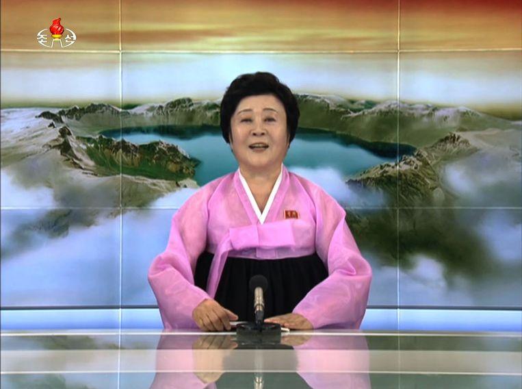 Ri Chun-Hee kondigde op 3 september 2017 trots aan dat haar land een waterstofbom bezit.