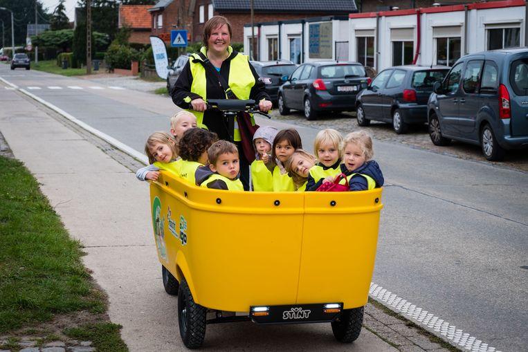 Ook in Haacht blijft deze gele Stint van de buitenschoolse opvang Hop-La! momenteel voorlopig aan de kant.