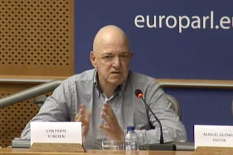 Jean-Pierre Voncken in het Europees Parlement.