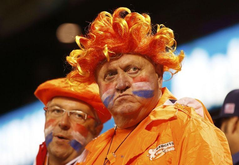 Teleurgestelde Nederlandse fans op de tribune in San Francisco. Beeld reuters
