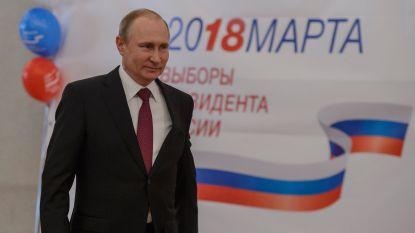 Eerste exitpolls: Poetin verkozen voor vierde termijn met score van meer dan 70 procent