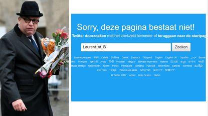 Twitteraccount van prins Laurent bestaat niet meer