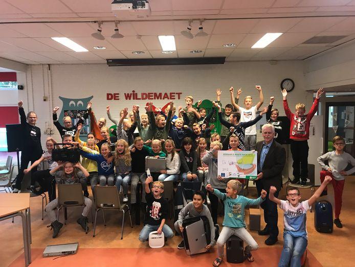 Op de Veluwe werden bij basisschool De Wildemaet in Elburg tijdens de E-waste Race de meeste oude elektrische apparaten ingeleverd.