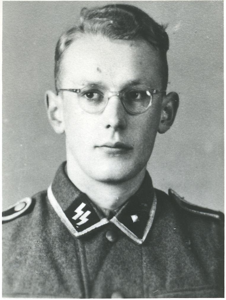 Oskar Gröning in SS-uniform. Beeld ap