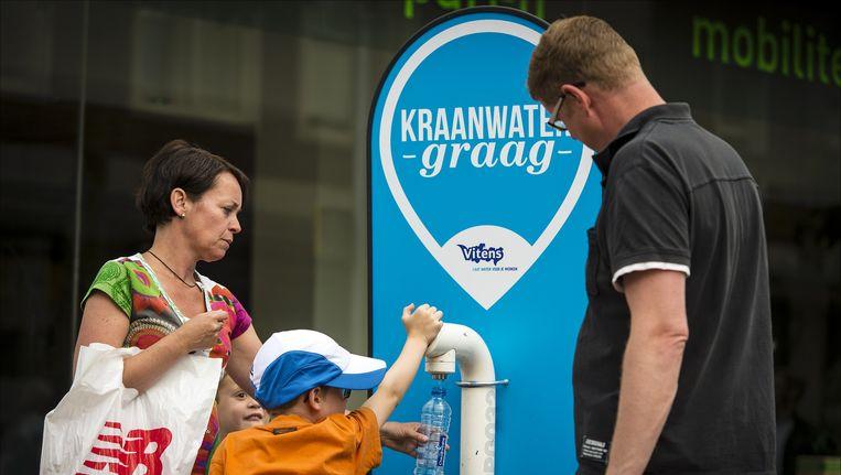Vitens zette tijdens de Vierdaagse in Nijmegen gratis watertappunten in de stad. Beeld anp