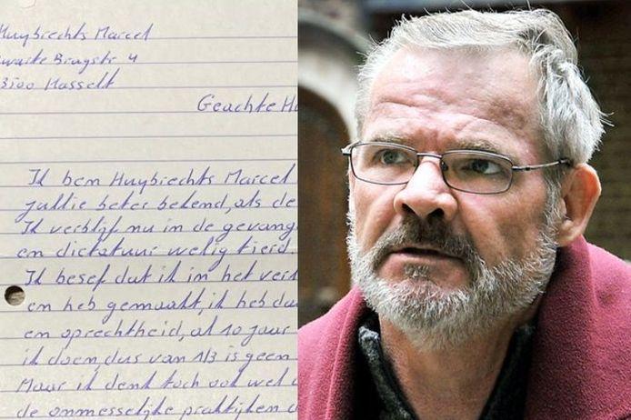 Marcel Huybrechts schreef op 16 september een brief in de gevangenis in Hasselt
