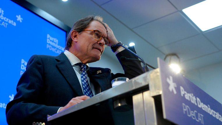 Artur Mas, voormalig partijleider van de onafhankelijkheidspartij. Beeld anp