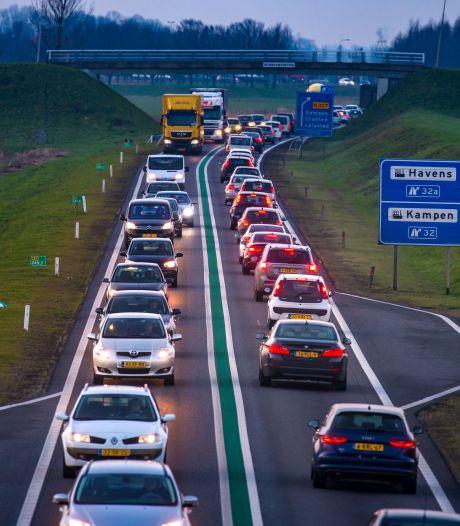 N50 krijgt tussen Kampen en Ramspol een 'ribbelrand' die bestuurders waarschuwt voor verkeerde weghelft