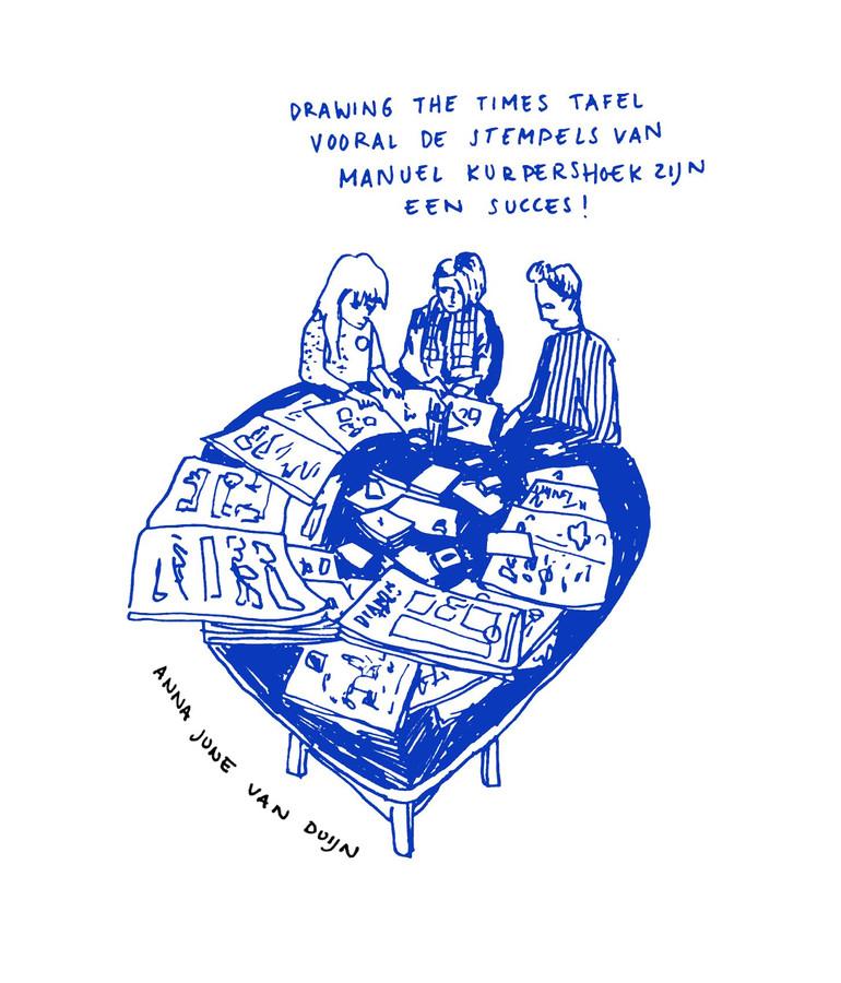 Beeldverslag van de Drawing the Times-tafel in het Klokgebouw.