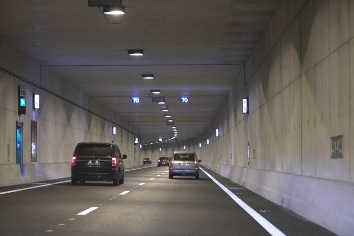 De Koning Willem-Alexandertunnel bij Maastricht.