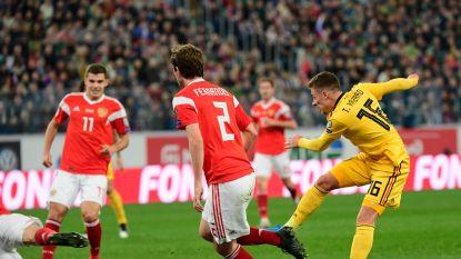 Wat een goals: kijk hoe Hazard-broers Rusland voor rust al helemaal uittelden