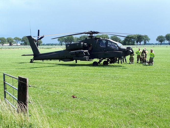 Voorzorgslanding Apache in Lith