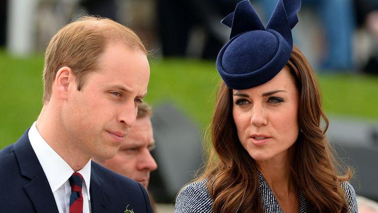 Prins William en zijn vrouw Kate. Beeld afp