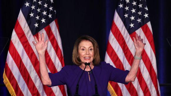 Huidig minderheidsleider Nancy Pelosi van de Democraten zal naar alle verwachting Paul Ryan opvolgen als Speaker of the House.