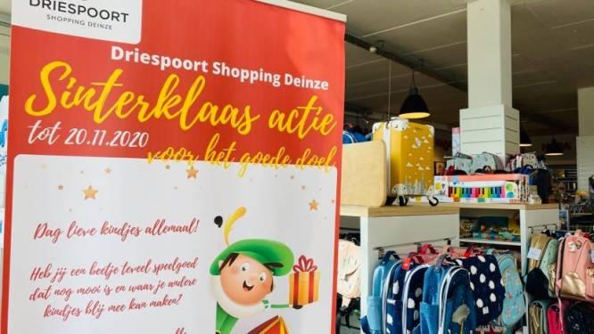 Geen Sint, maar wel speelgoedactie voor kansarmen bij Driespoort Shopping