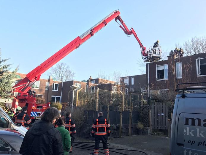 Brand in woning aan Tweevoren in Nuenen.