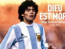 """Dieu est mort"": la presse internationale salue la mémoire de Maradona"