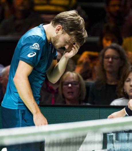 Goffin slaat bal in oog en moet opgeven in Rotterdam