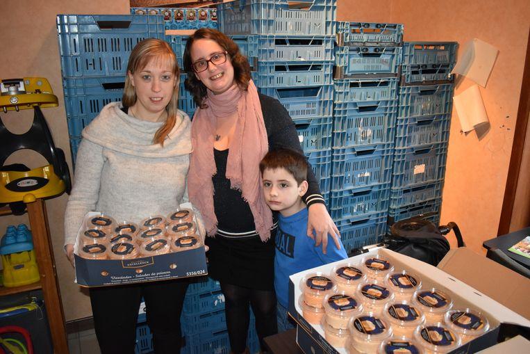 Kelly De Coster en Mandy Matthijs van 'Zonder honger naar bed' kregen deze week nog tientallen potjes vissla.