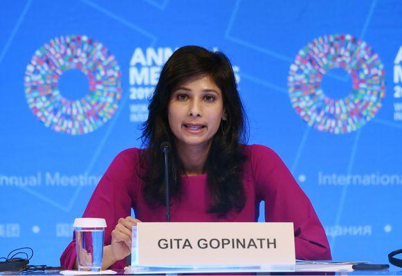 Gita Gopinath, hoofdeconoom van het IMF.